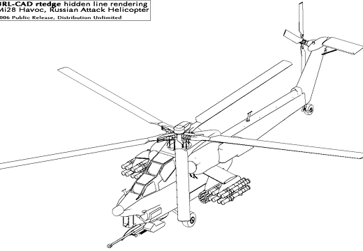 rtedge rendering of an Mi28 Havoc Helicopter