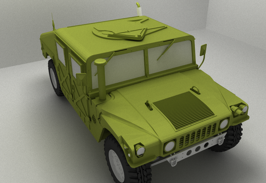 HMMWV polygonal global illumination render using ADRT