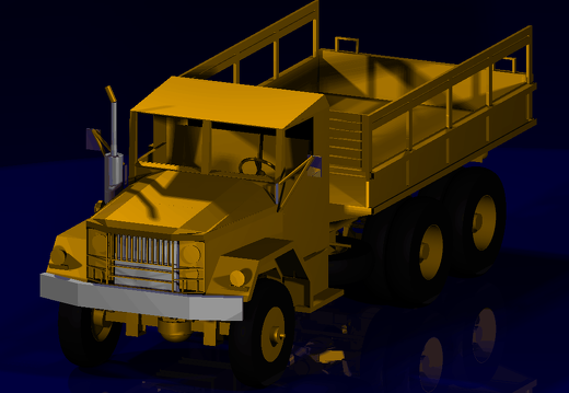 M35 Truck rendering by Bill Laut