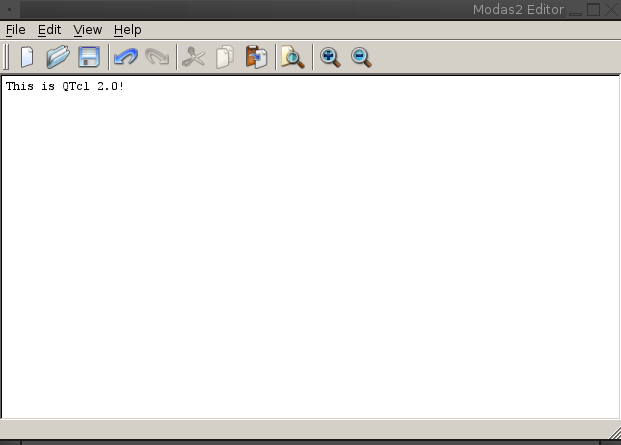QTcl editor example
